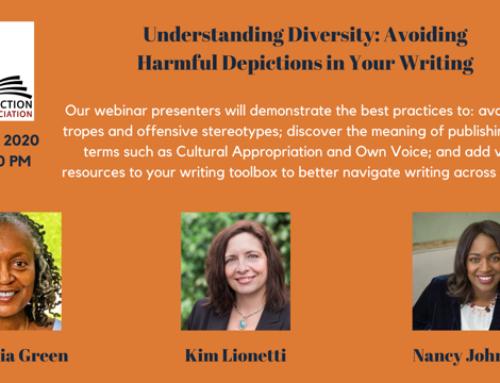 "Webinar – ""Understanding Diversity: Avoiding Harmful Depictions in Your Writing"""