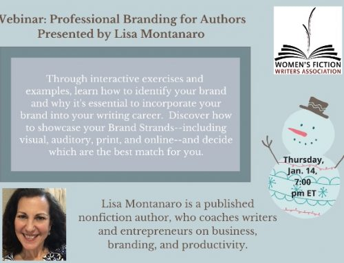 Upcoming Webinar, January 14th: The Brand Called You: Personal & Professional Branding for Authors